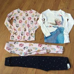Princess and Elsa Pajama Set